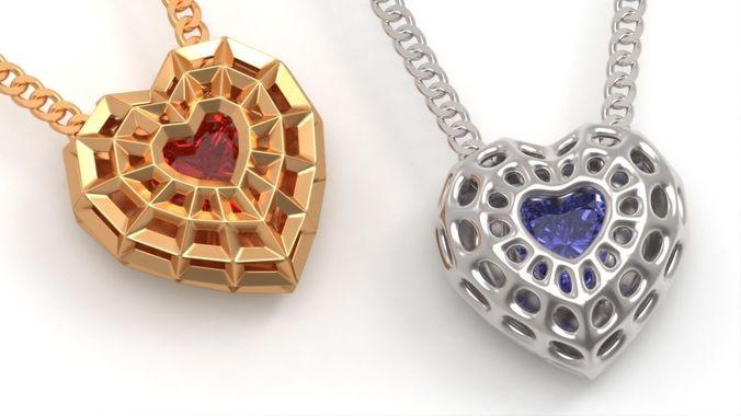 3d print model beautiful bionic hearts pendant cgtrader beautiful bionic hearts pendant 3d model obj fbx stl 3dm mozeypictures Image collections