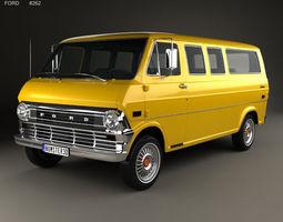 E-Series Econoline Club Wagon 1971 3D model