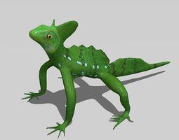 Basilisk lizard 3D model realtime