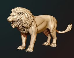 Lion Sculpture 3D print model statue