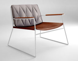 industrial 3D model Jardan Seb armchair