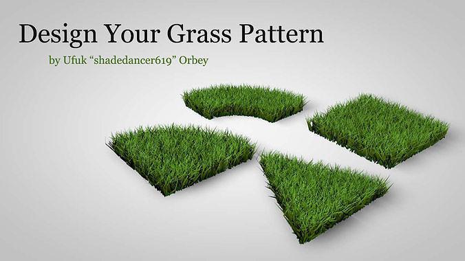 grass patterns 3d model obj mtl 3ds fbx c4d dae 1