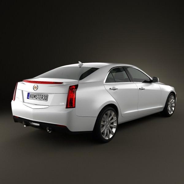 Cadillac Ats 2012: Cadillac ATS 2013 3D Model MAX OBJ 3DS FBX C4D LWO LW LWS