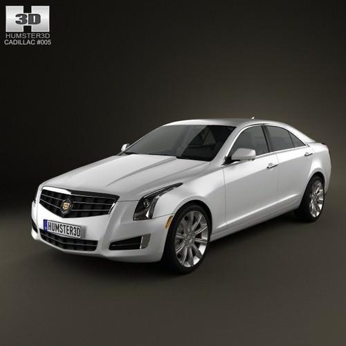 Cadillac Ats 2012: Cadillac ATS 2013 3D Model