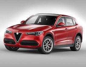 3D Alfa Romeo Stelvio 2018