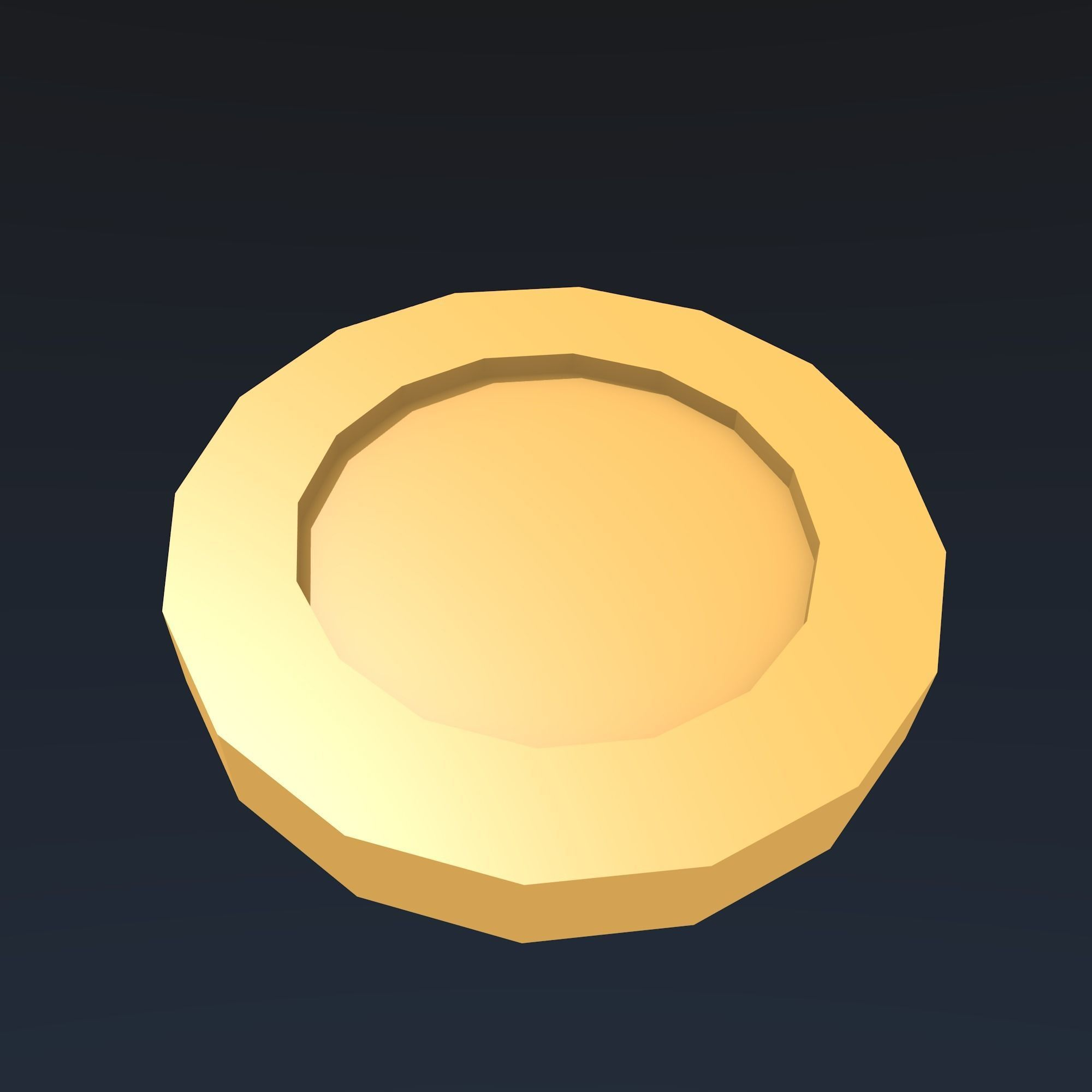 Low poly gold coin 3D asset low-poly   CGTrader