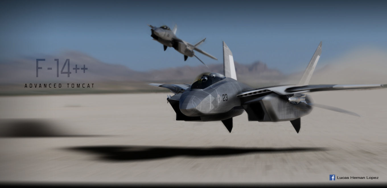 F-14  stealth concept