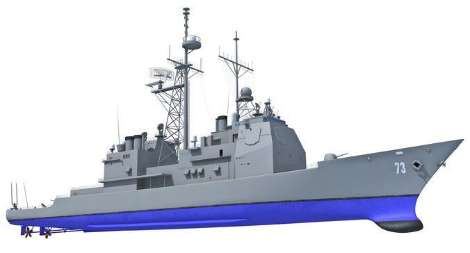 uss port royal missile cruiser 3d model max obj mtl lwo lw lws ma mb hrc xsi 3dm 1