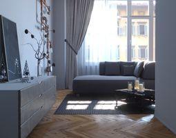 Living room 009 3D