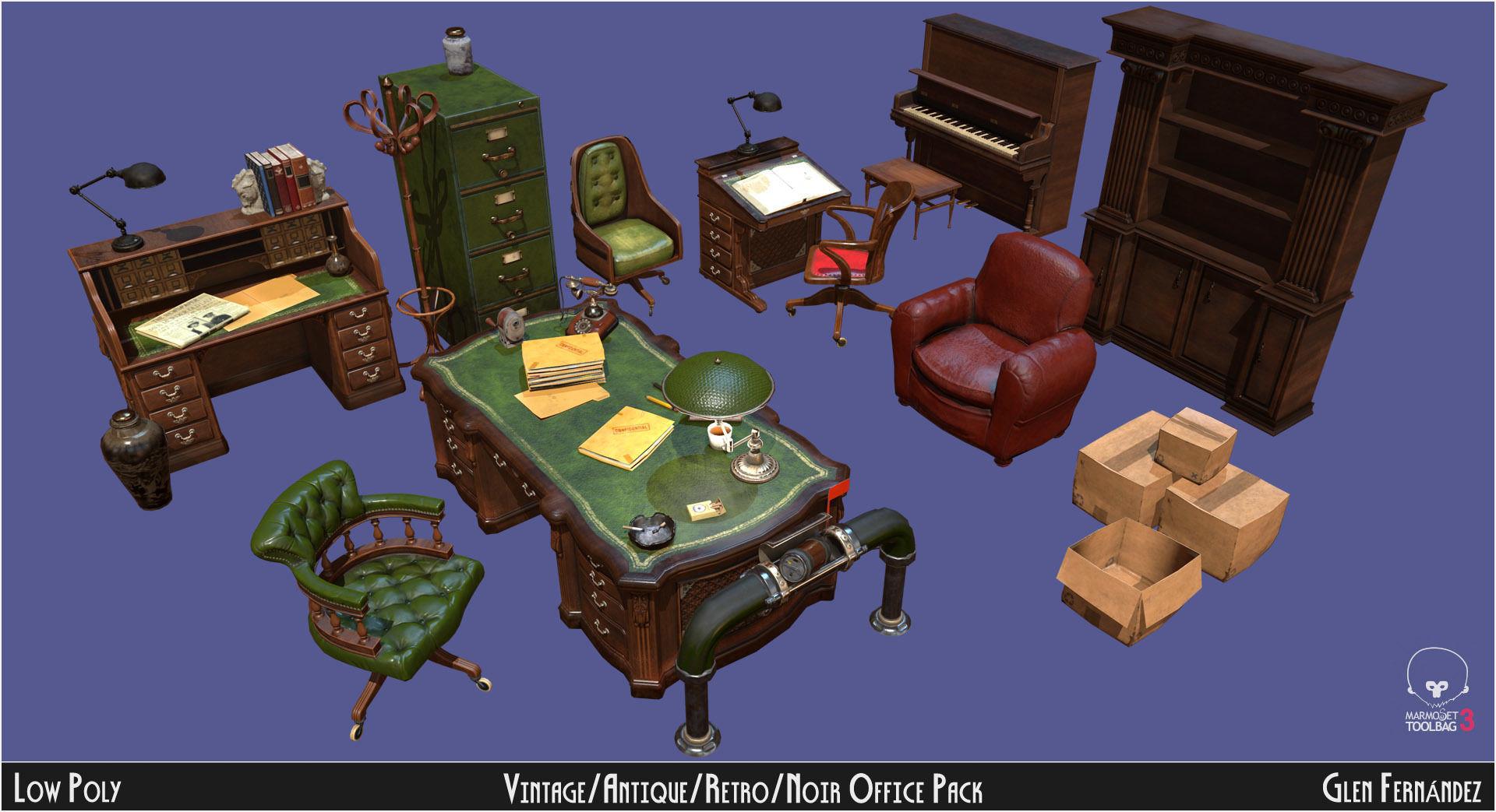 Vintage Office Asset Pack