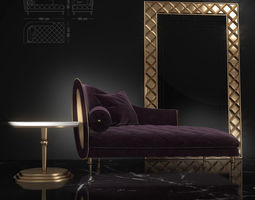 3D model Couch Sipario from Arredoclassic
