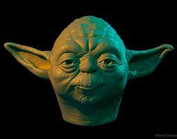 3D printable model Yoda head