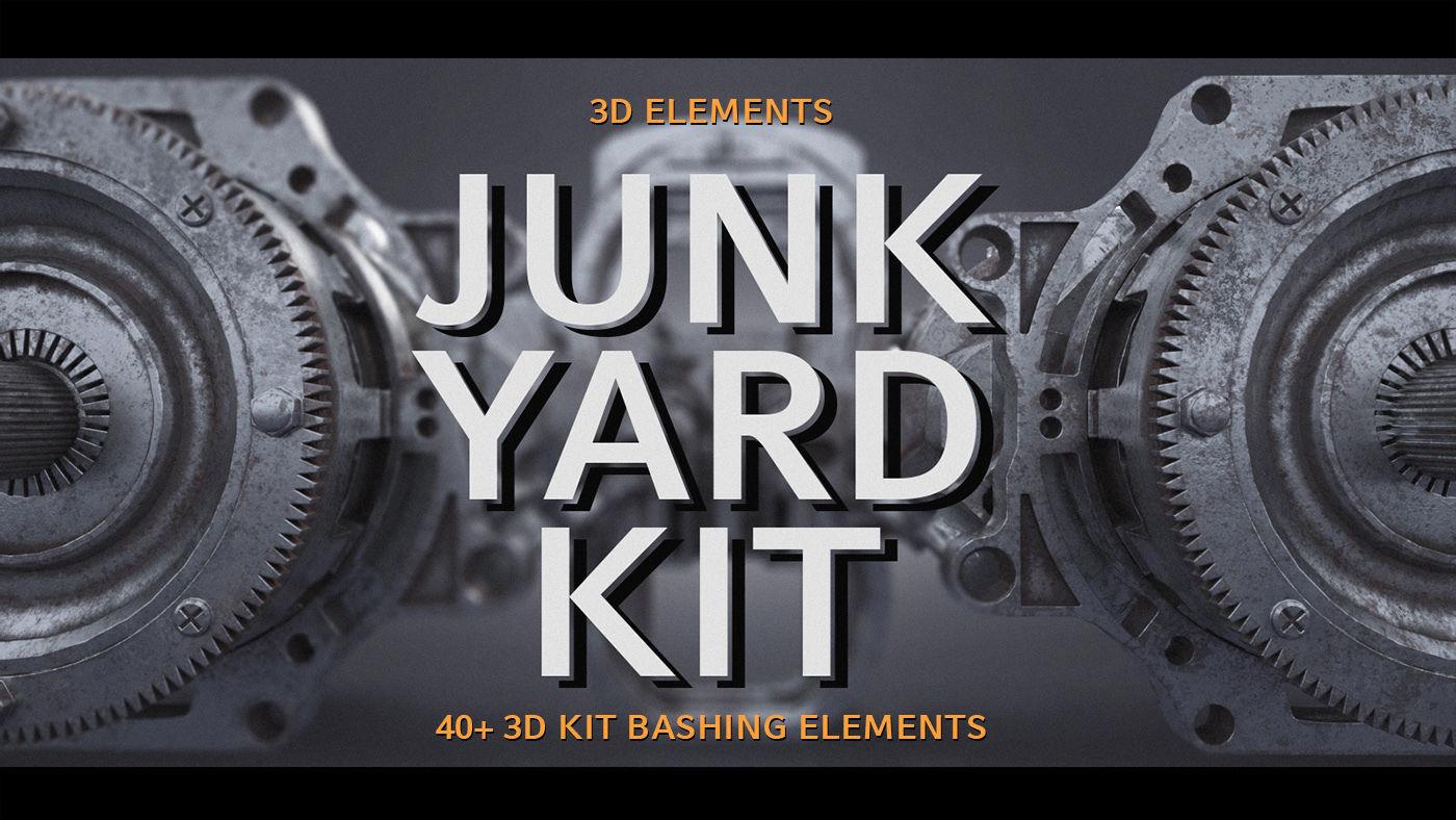 Junk Yard Kit - 50 plus 3d Elements