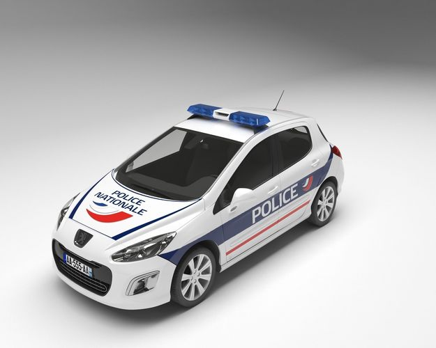 police car 3d model max obj mtl fbx 1