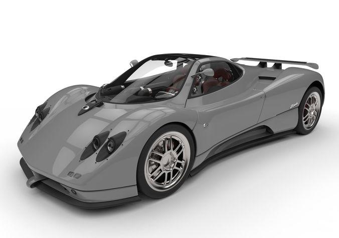 pagani zonda c12 supercar high poly 3d model max obj mtl 3ds fbx c4d dae 1