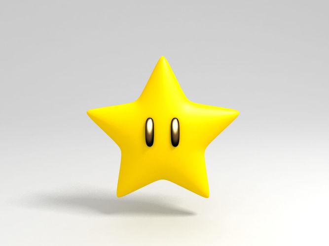 mario star 3d model low-poly max obj mtl fbx ma mb 1
