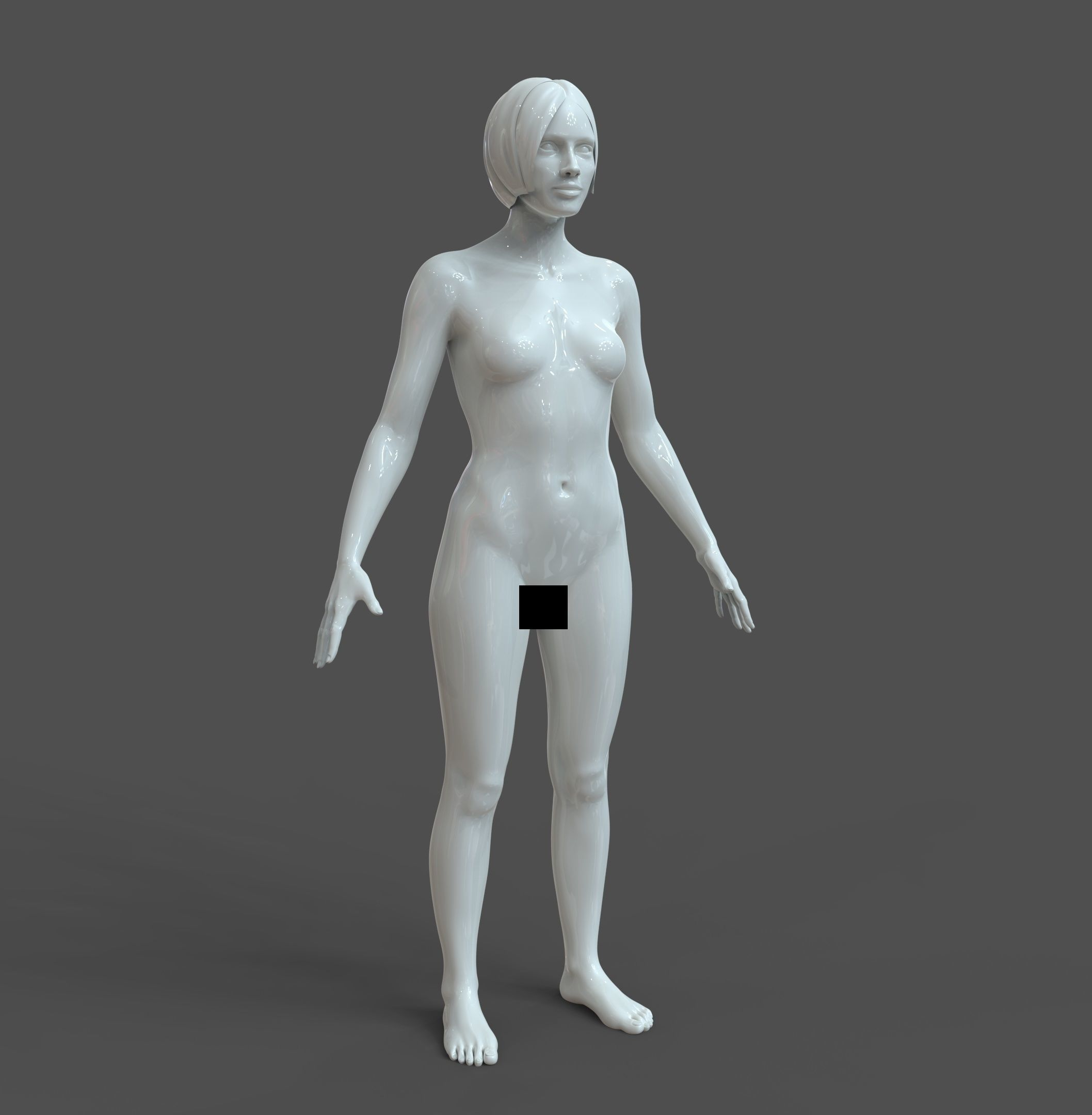 CAD Human body Basic Casual Female Model F1P1D0V1