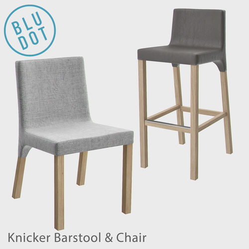 Blu Dot Knicker Barstool And Chair Model Max Obj Mtl Fbx 1