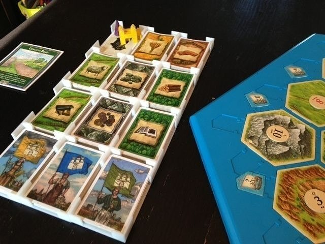 catan card holder cities and knights edition free 3d model