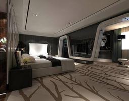 Luxurious stylish bedroom 21 3D model