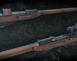 3D asset PBR Soviet Mosin-Nagant M38