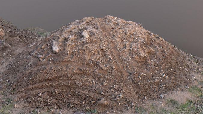 Pile of mud scanned