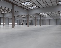 3D model Factory Hall Interior 7