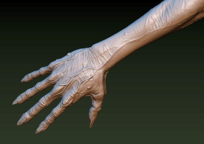 zombie hand 3d model obj mtl fbx stl blend 1