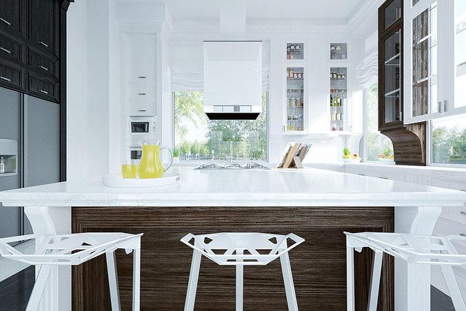 3D Royal kitchen design interior   CGTrader