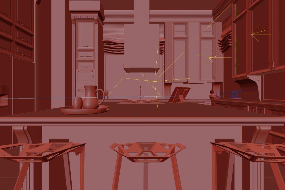 royal kitchen design interior 3d model max cgtrader com designfirms award winner royal kitchen designs