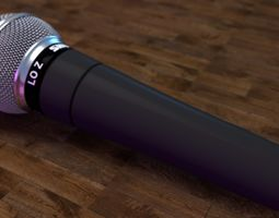 3D model Shure SM58 Microphone