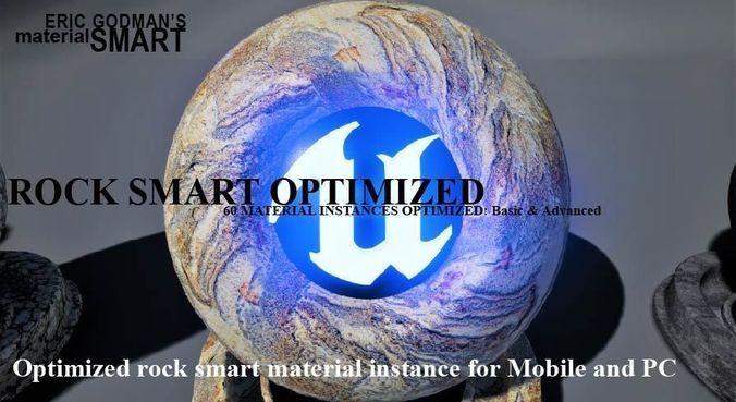 optimized rock materials 3d model uasset 1
