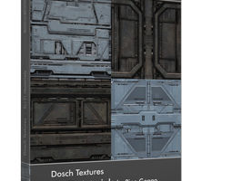 3D model DOSCH Textures - SciFi Materials spaceship