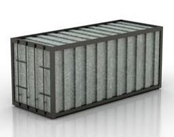 Cargo container 3D asset rigged