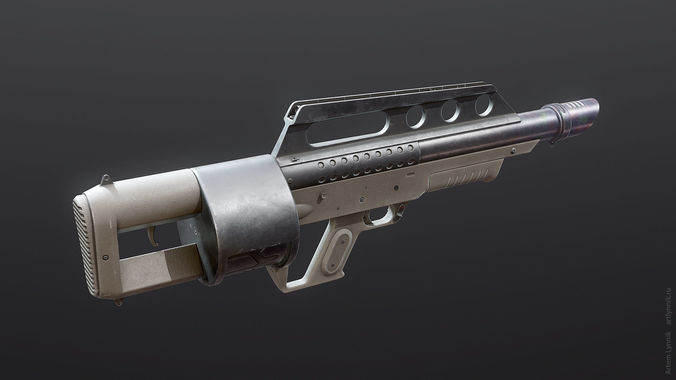 pancor jackhammer shotgun 3d model max obj 3ds fbx tga unitypackage 1