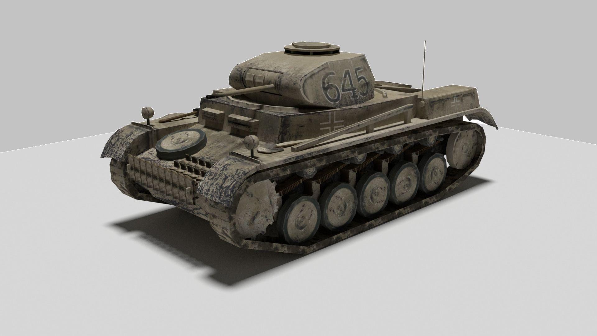 Tank Panzer 2 II | 3D model