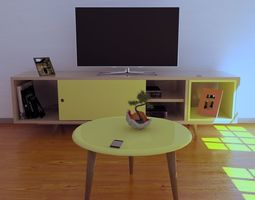 3D model Furniture Room TV Stand Retro from the 50s