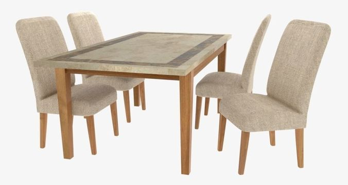 3d Model Stone Top Dining Set Cgtrader
