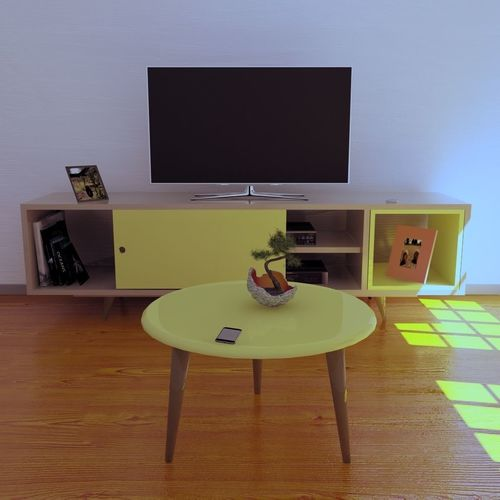 furniture room center table from the 50s  3d model obj mtl blend 1