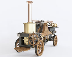 3D model Patrick Stirling Steam Traction Engine