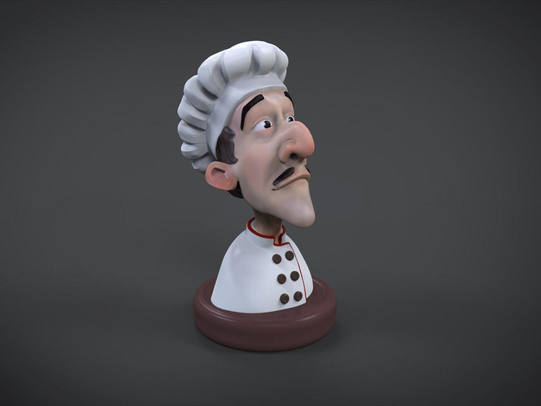 cook 3d printable figure 3d model 3d printable stl wrl wrz
