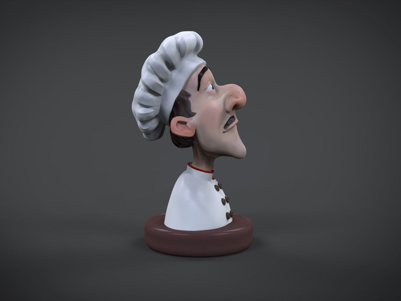 Cook 3d printable figure 3D Model 3D printable STL WRL WRZ ...