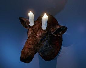 3D asset Candlestick deer