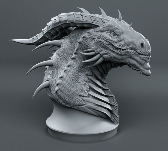 dragon head sketch 3d printable model cgtrader