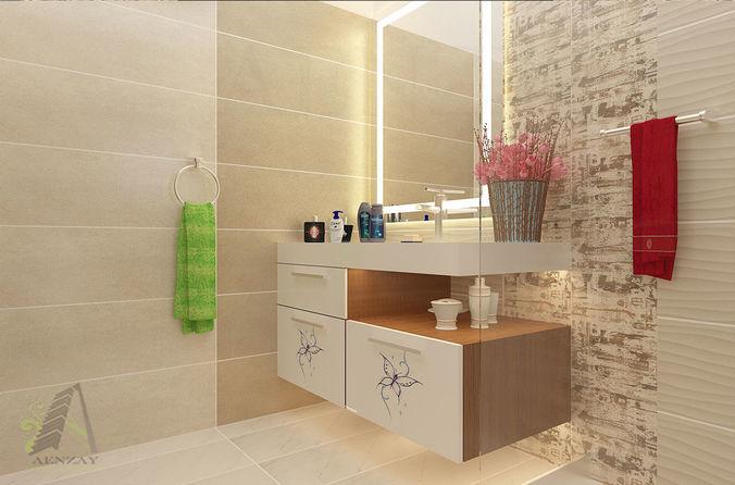 Bathroom Interior Designing Model Stl Flt 1
