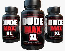 Dude Max Testosterone bottle 3D