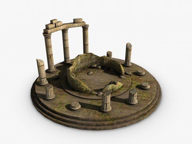 ancient temple ruins 3d model max obj 3ds fbx c4d 1