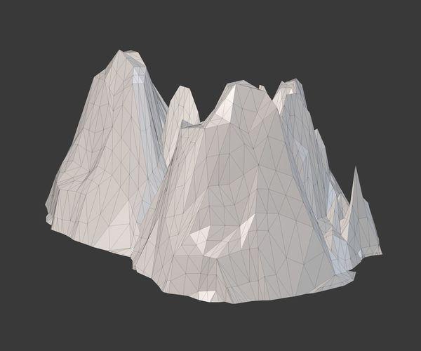 Mountain Model Low Poly 3d Obj 3ds Fbx C4d Dxf Stl 8