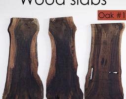 3D model Wood Slab Table 3