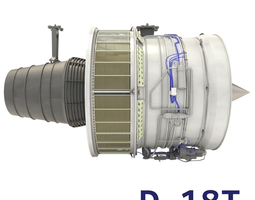 3d d-18t turbofan engine